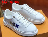 Louis Vuitton Time Out Sneaker with Giant Monogram Flowers White Calf Leather Replica