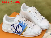 Louis Vuitton Time Out Trainers Blanc Bleu Calf Leather 1A64QK Replica