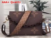 Louis Vuitton Toiletry Pouch 26 in Monogram Reverse Canvas with Wide Shoulder Strap Replica