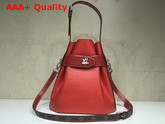 Louis Vuitton Twist Bucket Bag in Red Epi Leather Replica