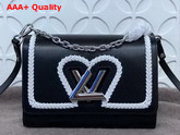 Louis Vuitton Twist MM Black Epi Leather with Braided Detail Replica