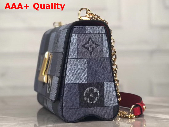 Louis Vuitton Twist MM Grey and Black Printed Calfskin Replica