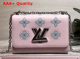 Louis Vuitton Twist MM Pink Printed and Studded Epi Leather M52131 Replica