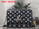 Louis Vuitton Twist MM in Black Monogram Python Skin Replica
