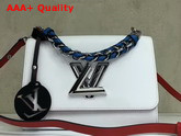 Louis Vuitton Twist MM in White Epi Leather with Short Chain Handle Replica