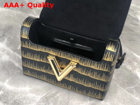 Louis Vuitton Twist PM Gold and Black Embossed and Printed Epi Leather M53725 Replica