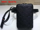 Louis Vuitton Utility Side Bag Absolute Black Taurillon Monogram Cowhide Leather M53298 Replica