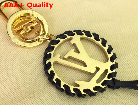 Louis Vuitton Very Bag Charm and Key Holder Gold and Black M63082 Replica
