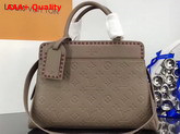 Louis Vuitton Vosges MM Monogram Empreinte Taupe Glace M43739 Replica