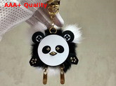 Louis Vuitton Wild Puppet Bag Charm and Key Holder Natural Mink Fur M63094 Replica