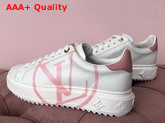 Louis Vuitton Women Time Out Trainer Rose Clair Calf Leather Replica