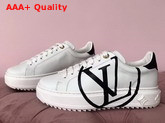 Louis Vuitton Women Time Out Trainer White with Black Replica