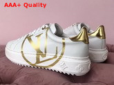 Louis Vuitton Women Time Out Trainer White with Gold Replica
