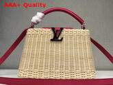 Louis Vuitton Woven Capucines BB Wicker and Red Calf Leather Replica