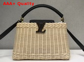 Louis Vuitton Woven Capucines PM Wicker and Calf Leather Replica