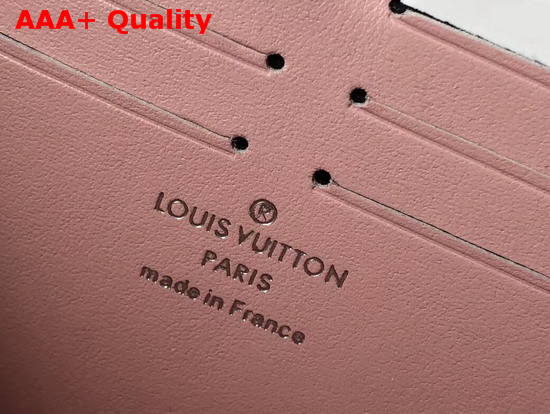 Louis Vuitton Zippy Wallet Magnolia Mahina Perforated Calfskin Leather M61868 Replica