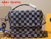 Louis Vuitton Zoooom with Friend Messenger Bag in Black and White Damier Canvas Replica
