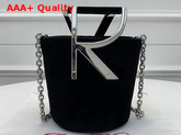 Roger Vivier RV Mini Bag in Black Suede Replica
