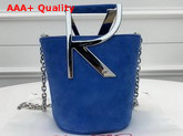 Roger Vivier RV Mini Bag in Light Blue Suede Replica