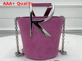 Roger Vivier RV Mini Bag in Pink Suede Replica