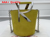Roger Vivier RV Mini Bag in Yellow Suede Replica