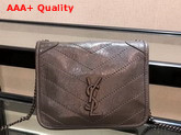 Saint Laurent Niki Chain Wallet in Storm Crinkled Vintage Leather Replica