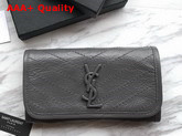 Saint Laurent Niki Large Wallet Storm Crinkled Vintage Leather Replica