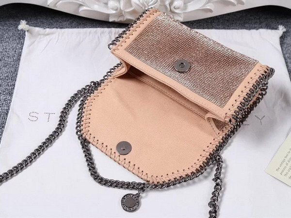 Stella Mccartney Falabella Crystal Stones Shaggy Deer Tiny Bag in Powder for Sale