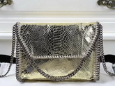 Stella Mccartney Falabella Metallic Alter Snake Mini Bag in Gold for Sale