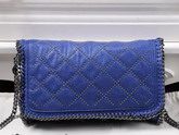 Stella Mccartney Falabella Studded Quilted Shaggy Deer Cross Body Bag in Blue for Sale