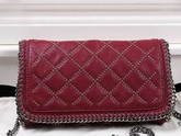 Stella Mccartney Falabella Studded Quilted Shaggy Deer Cross Body Bag in Plum for Sale