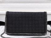 Stella Mccartney Falabella Studded Shaggy Deer Cross Body Bag in Black for Sale