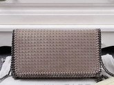 Stella Mccartney Falabella Studded Shaggy Deer Cross Body Bag in Camel for Sale