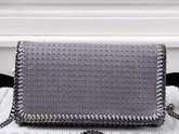 Stella Mccartney Falabella Studded Shaggy Deer Cross Body Bag in Light Grey for Sale